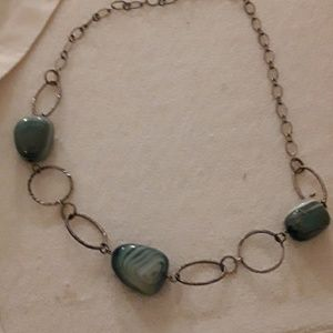 Vintage gree lamplighter bead chain choker necklac